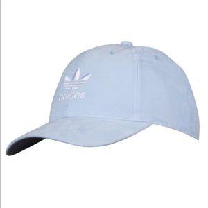 🧢 ADIDAS Light Blue Suede Baseball Hat - Women's